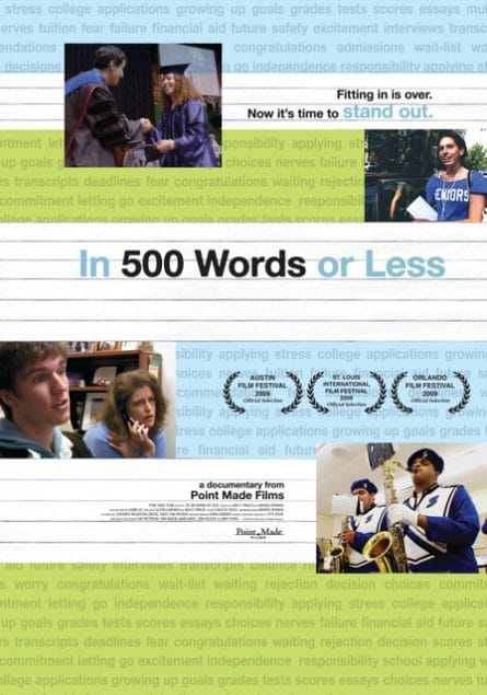 """In 500 Words or Less"" Movie Poster"